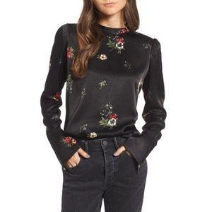 Treasure & Bond Black Floral Blouse